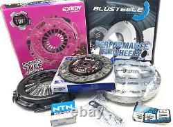 Kit D'embrayage Exedy Heavy Duty Et Billetterie Blusteele Flywheel Pour Navara D22 3.0l Zd30